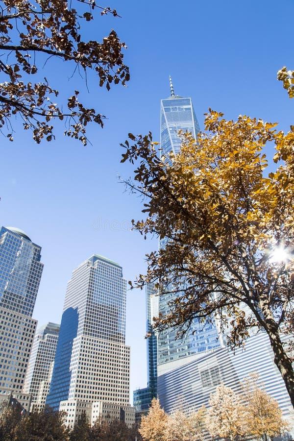 Нью-Йорк, более низкое Манхаттан и финансовый район стоковое изображение