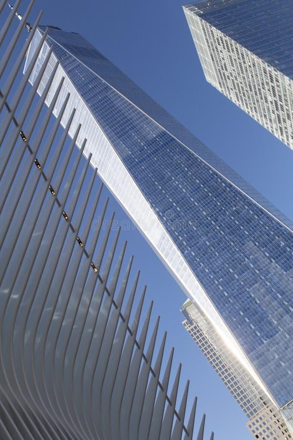 Нью-Йорк, более низкое Манхаттан и финансовый район стоковая фотография