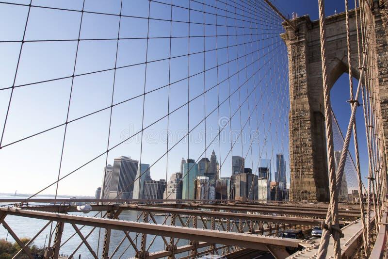 Нью-Йорк, Бруклинский мост стоковое изображение