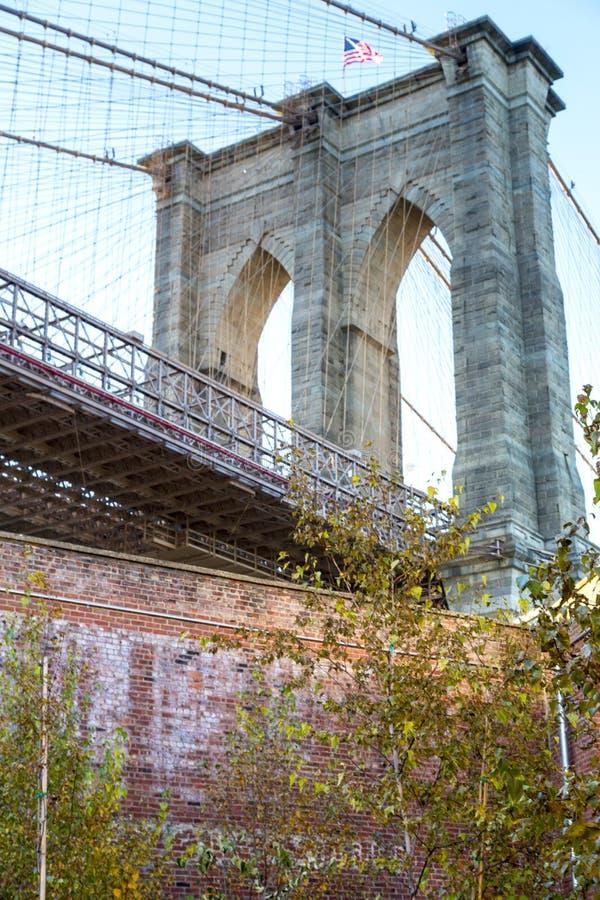 Нью-Йорк, Бруклинский мост стоковое фото rf