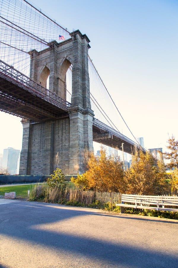 Нью-Йорк, Бруклинский мост стоковое фото