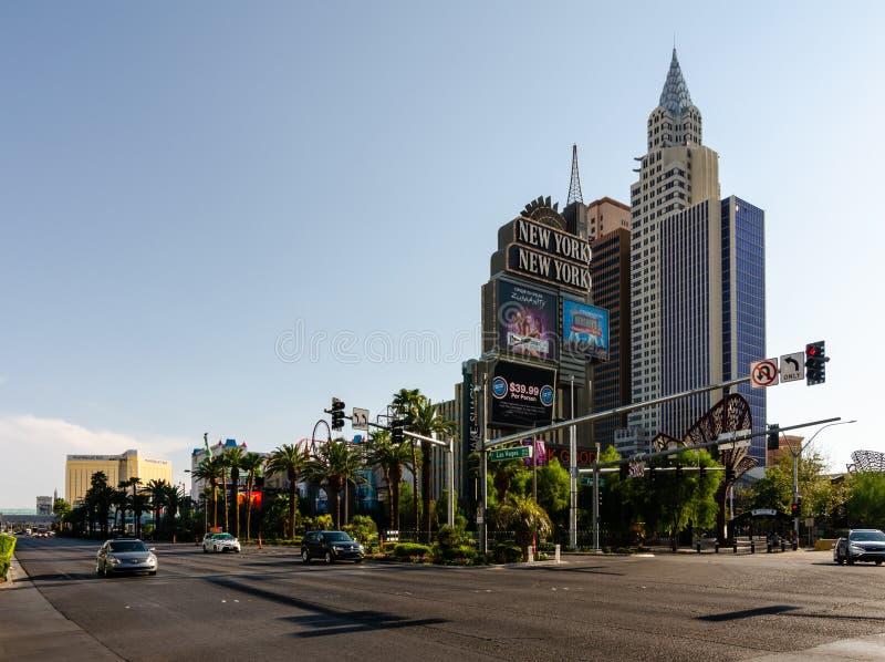 Нью-Йорк Нью-Йорк в Лас-Вегас стоковые изображения rf