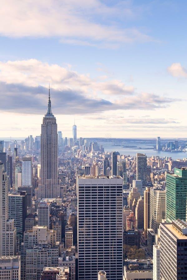 Нью-Йорк - горизонт от вершины утеса стоковые изображения