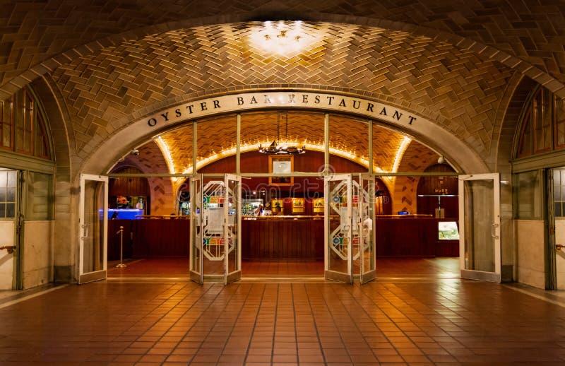 Нью-Йорк - грандиозные центральные бар & ресторан устрицы стоковые изображения rf