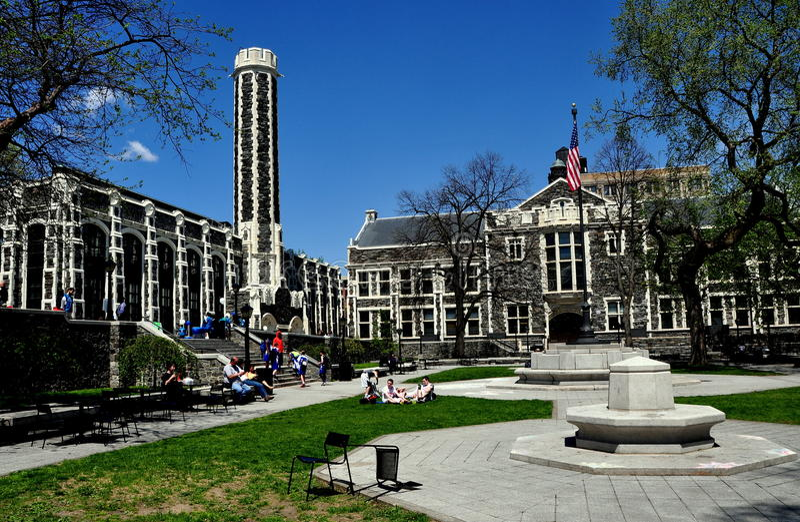 Нью-Йорк: Кампус коллежа города стоковая фотография rf
