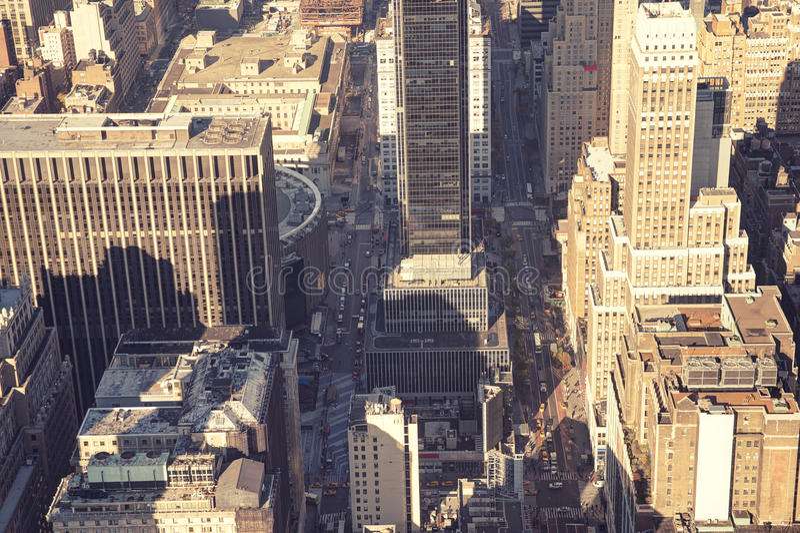 Нью-Йорк, конец вверх на зданиях стоковые фотографии rf