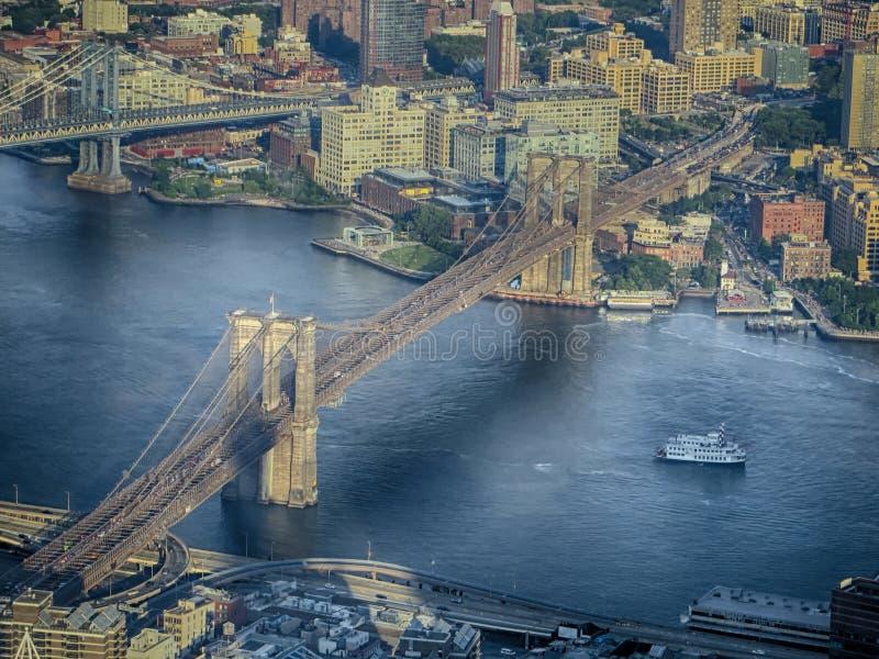 Нью-Йорк - мосты стоковые изображения rf