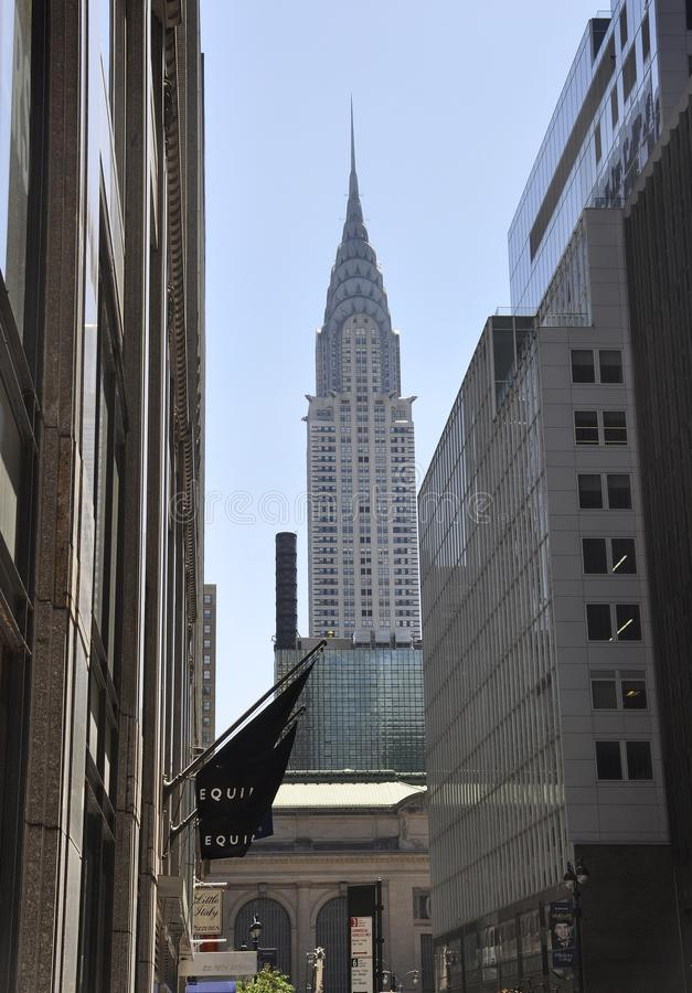 Нью-Йорк, 2-ое июля: Башня Crysler в центре города Манхаттане от Нью-Йорка в Соединенных Штатах стоковая фотография