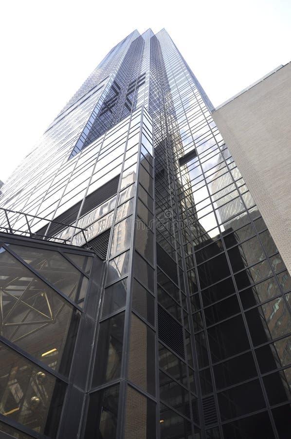 Нью-Йорк, 1-ое июля: Trump здание башни от Пятого авеню в Манхаттане от Нью-Йорка в Соединенных Штатах стоковые изображения rf