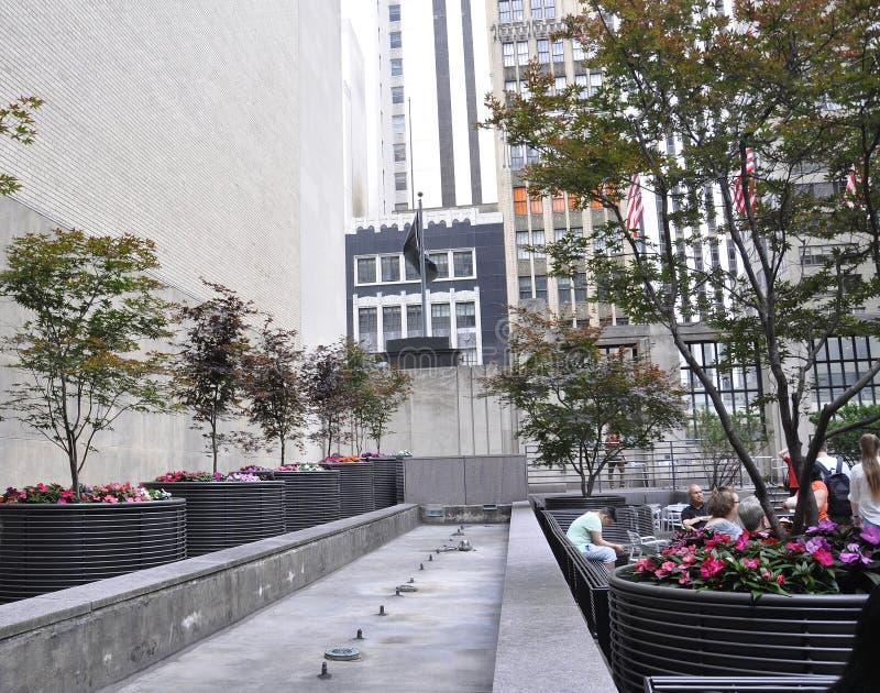 Нью-Йорк, 1-ое июля: Trump терраса башни от Пятого авеню в Манхаттане от Нью-Йорка в Соединенных Штатах стоковое изображение