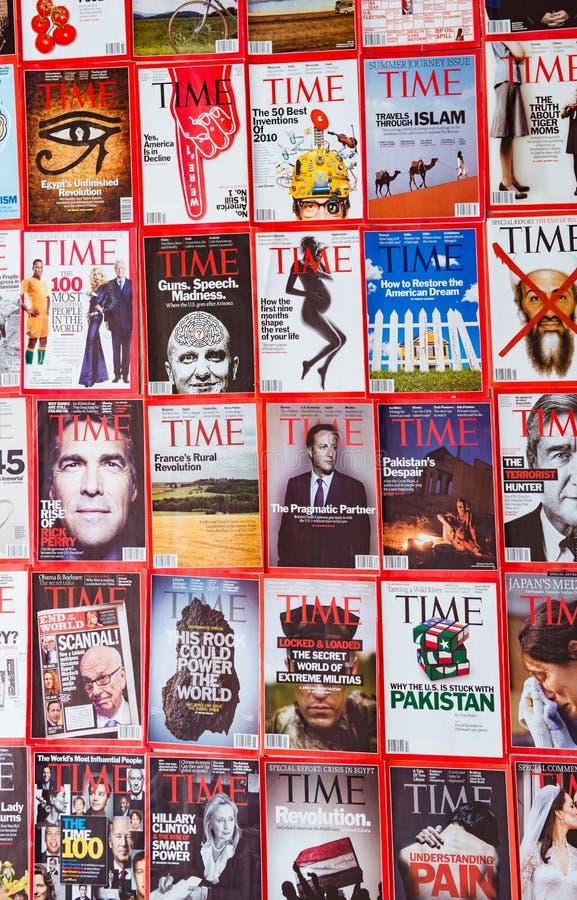 Нью-Йорк - 7-ое марта 2017: Журнал Тайм 7-ого марта в Нью-Йорке, стоковая фотография