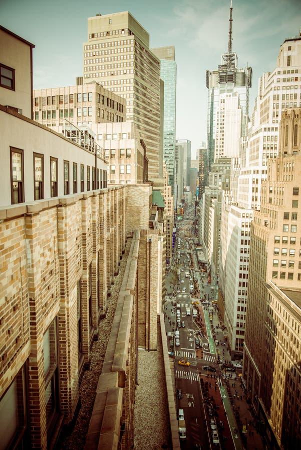 Нью-Йорк от верхней части крыши стоковое изображение rf