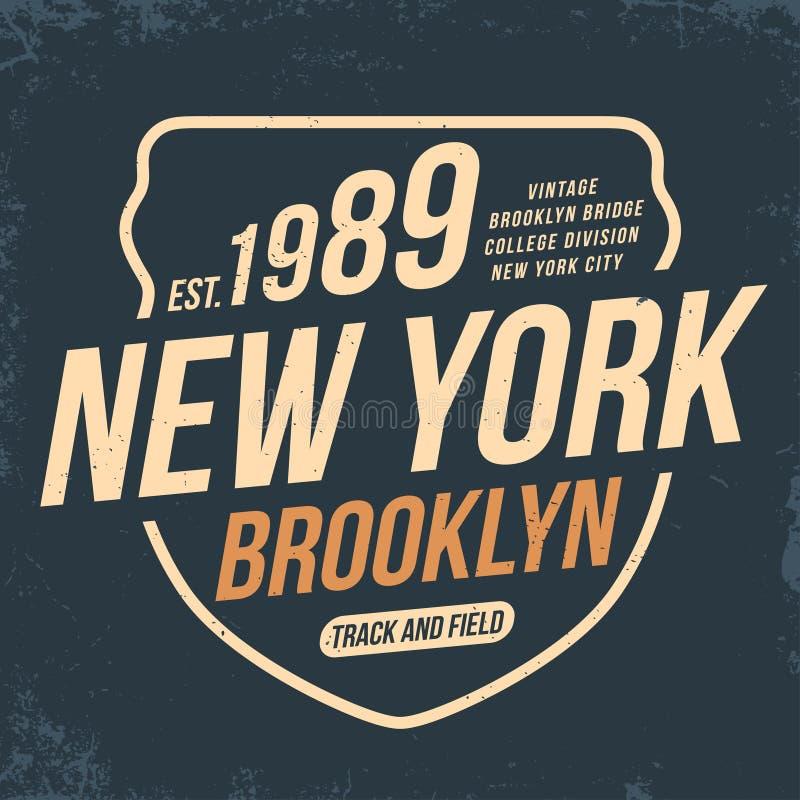 Нью-Йорк, оформление атлетического спорта для печати футболки Стиль университетской спортивной команды Графики футболки бесплатная иллюстрация