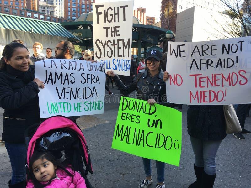 Нью-Йорк; Протест козыря стоковые фото
