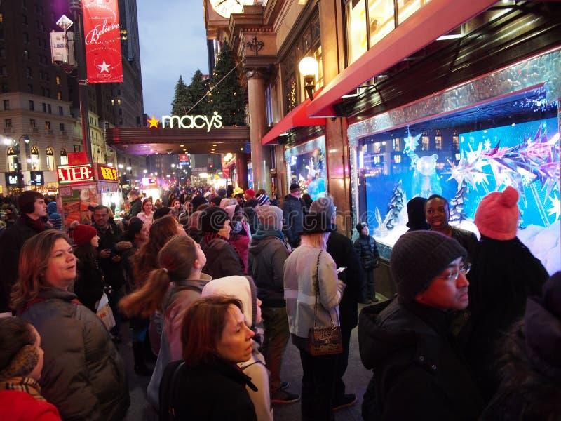 Нью-Йорк, рождество стоковое изображение