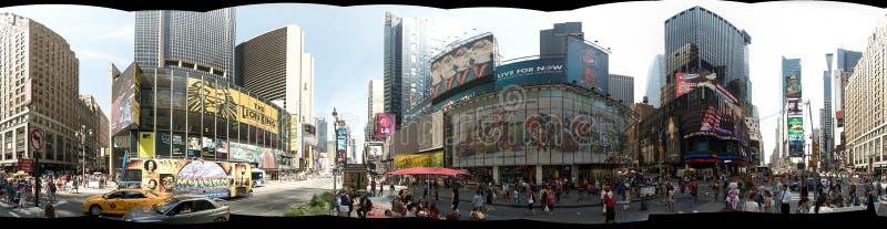 НЬЮ-ЙОРК, США - сентябрь 2013: Панорамный взгляд 360 градусов Таймс площадь стоковые изображения