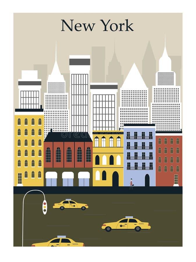 Нью-Йорк. иллюстрация вектора