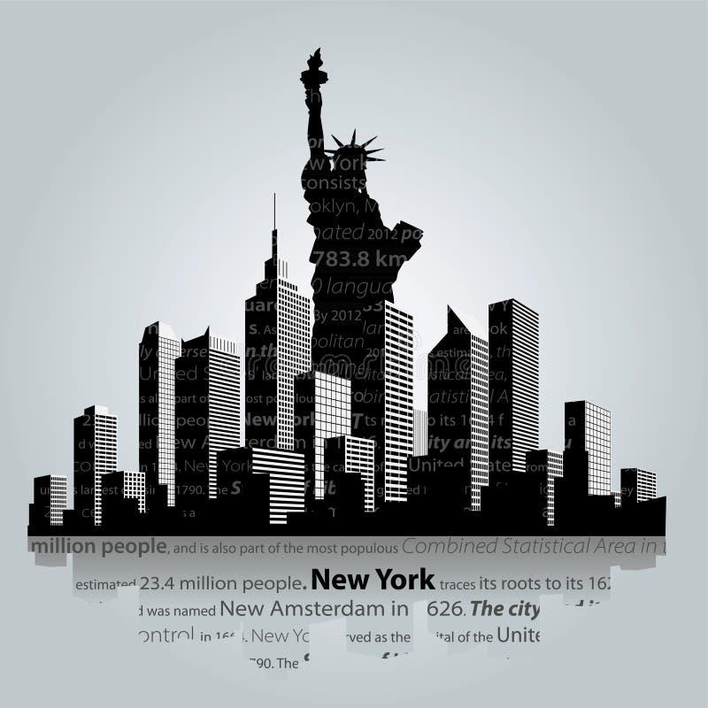 Нью-Йорк бесплатная иллюстрация