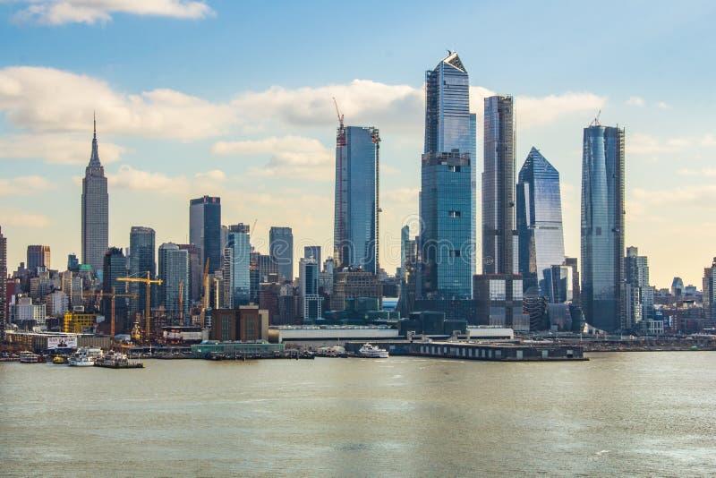 Нью-Йорк, NY/объединенный Государство-декабрь 26, 2018 - взгляд центра города Манхэттена стоковое изображение