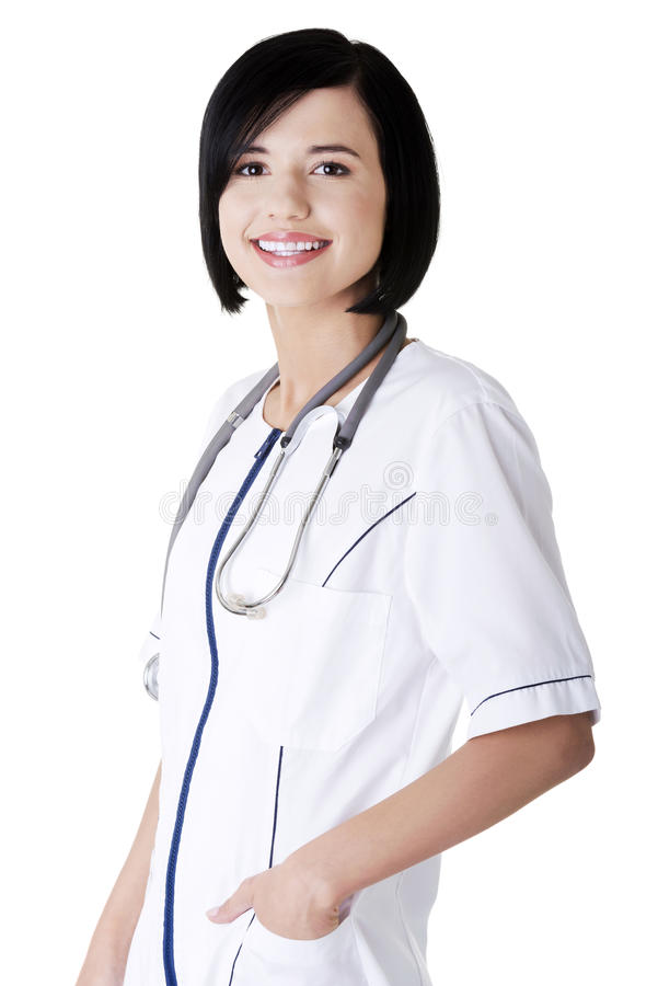 Нюна детенышей или доктор женщины стоковое фото rf