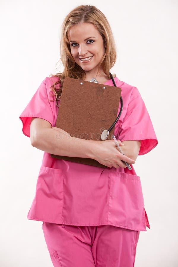 нюна привлекательного белокурого кавказского доктора женская стоковые фото
