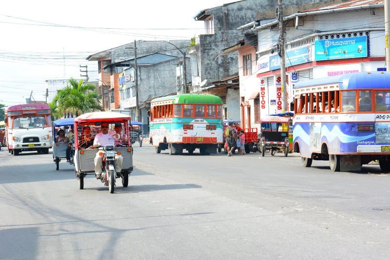Нюх улицы, Iquitos, Перу стоковые фото