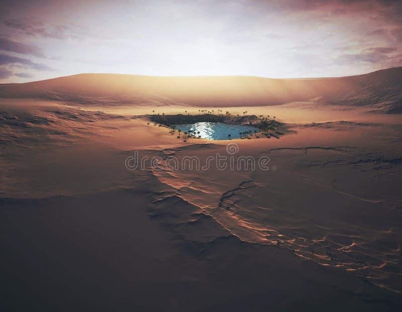 Оазис в пустыне стоковое изображение