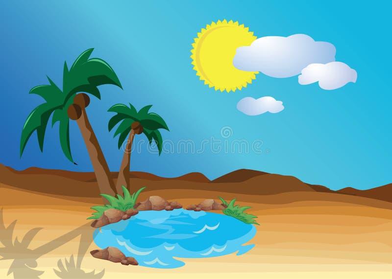 Оазис пустыни бесплатная иллюстрация