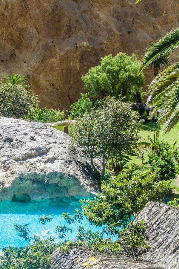 Оазис Sangalle в каньоне Colca, Перу стоковое изображение rf