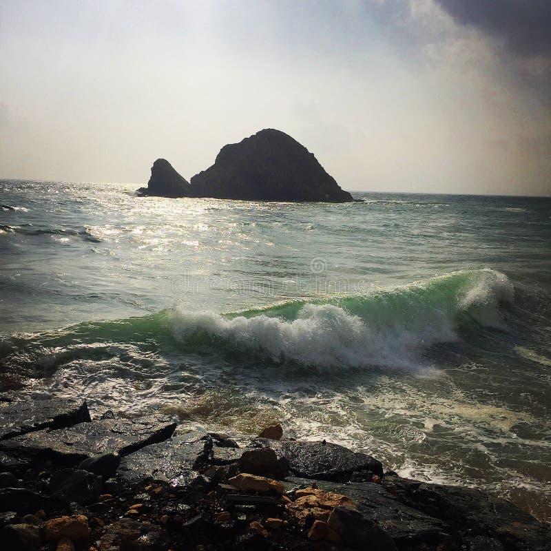 ОАЭ, гостиница песчаного пляжа стоковые фотографии rf