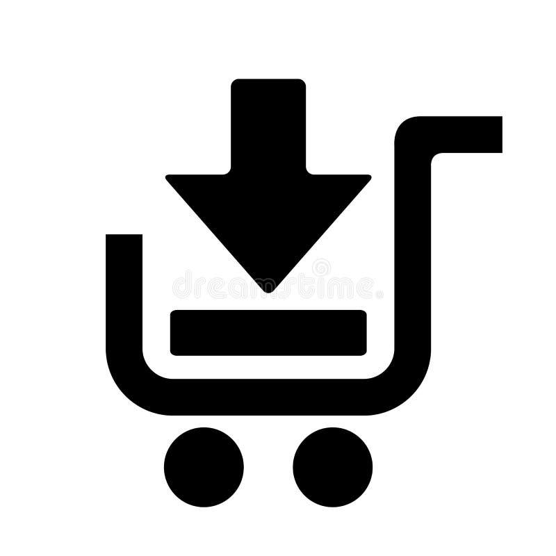 добавьте тележку ходя по магазинам к иллюстрация штока