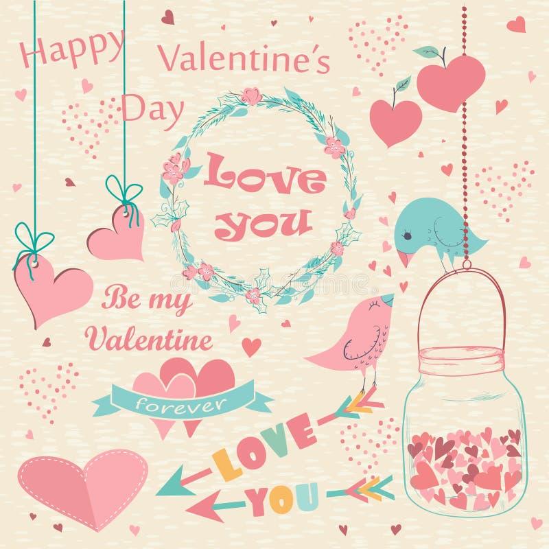 добавлять Валентайн текста дня счастливое совершенное s карточки бесплатная иллюстрация