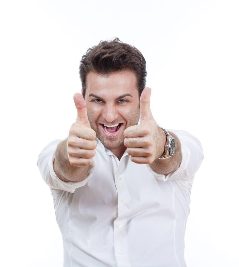 оба человек показывая большие пальцы руки вверх стоковая фотография rf