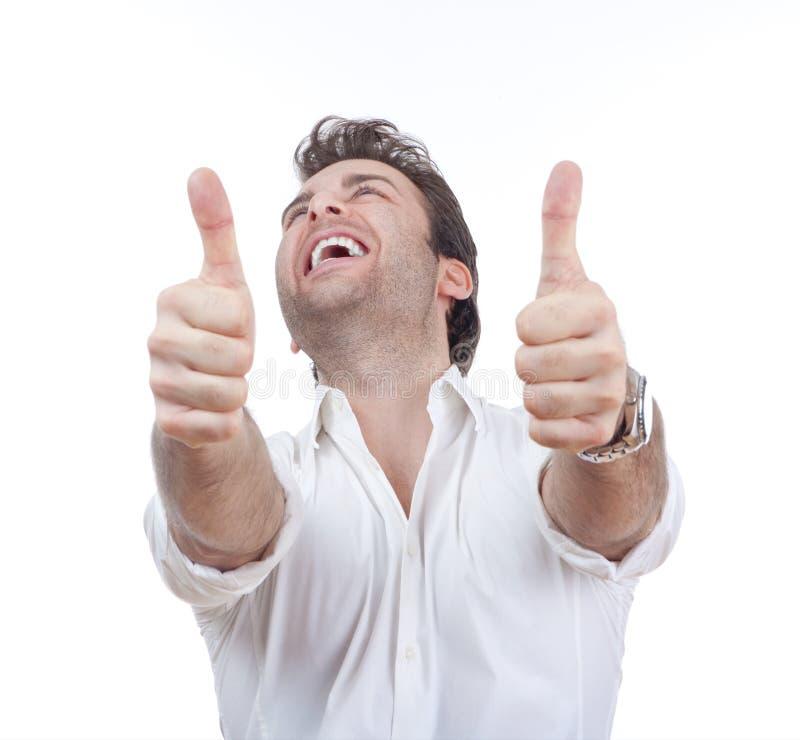 оба человек показывая большие пальцы руки вверх стоковые фотографии rf