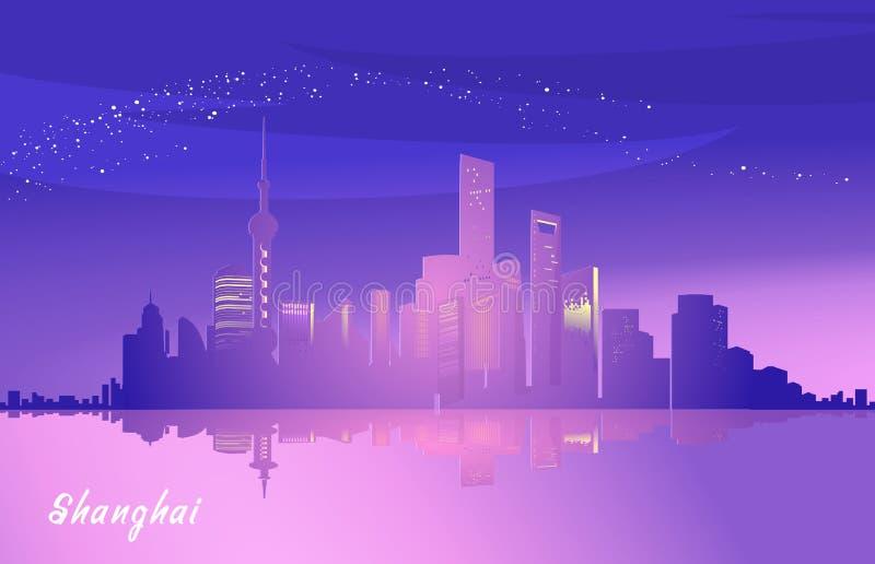 Обваловка города Шанхая иллюстрация вектора