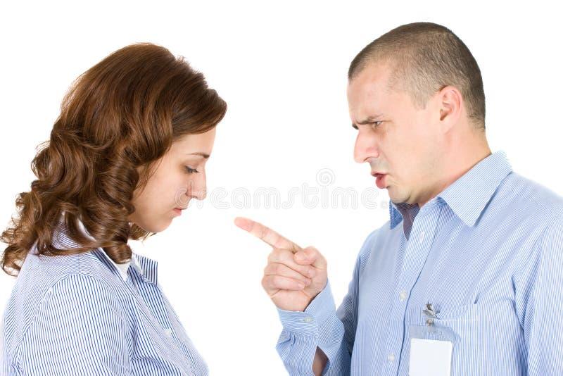 обвинять работника босса стоковое фото rf