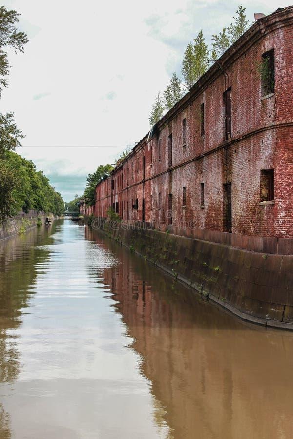Обводной канал в Kronstadt стоковое изображение rf