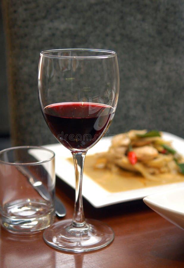 обедать вино стоковая фотография
