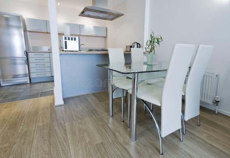 обедать кухонный стол стол стоковое изображение