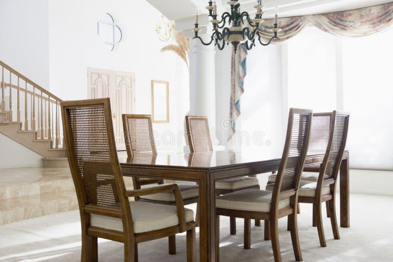 обедать пустая комната стоковое изображение