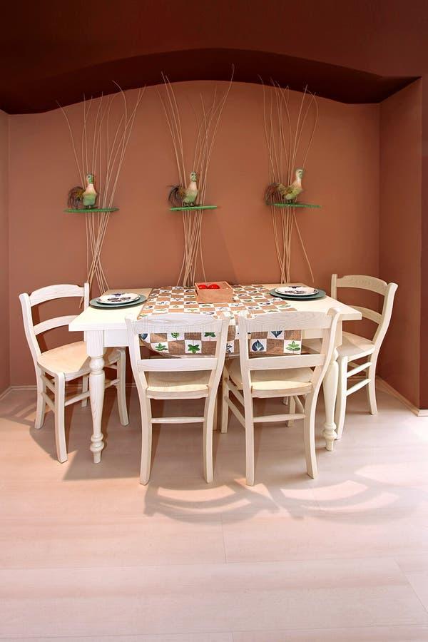 обедать ретро комната стоковая фотография
