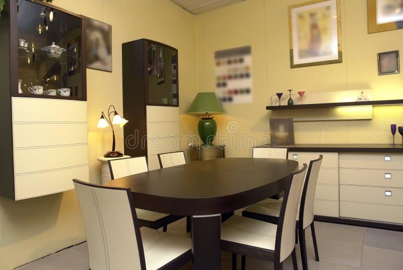 обедать самомоднейшая комната стоковые фотографии rf
