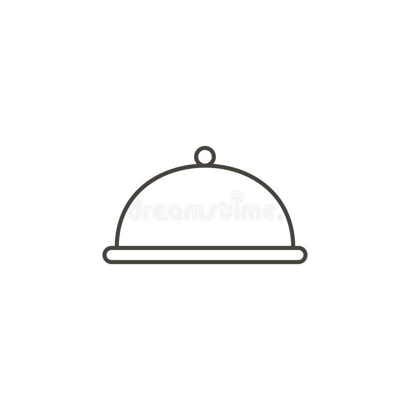 Обедающий, значок посуды Простая иллюстрация элемента от концепции еды Обедающий, значок посуды Концепция напитка иллюстрация вектора