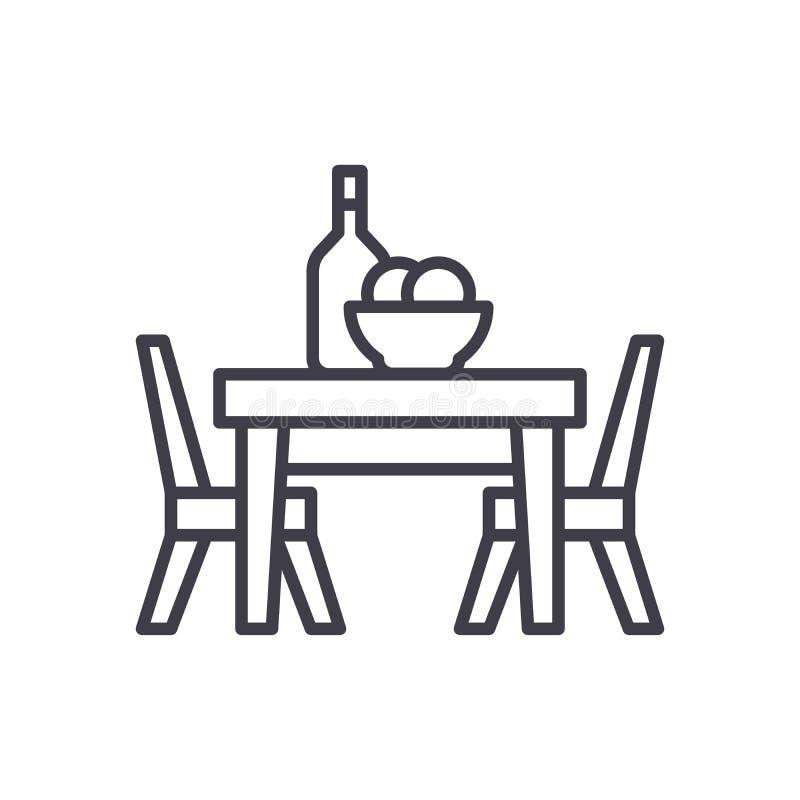 Обедающий на концепции значка черноты кафа Обедающий на символе вектора кафа плоском, знак, иллюстрация иллюстрация вектора