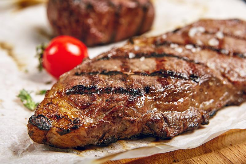 Обедающий стейка говядины стоковые фото