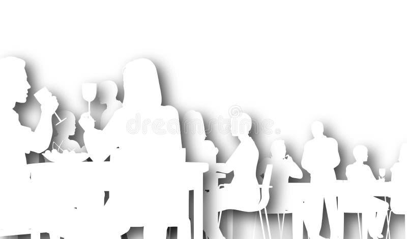 обедающий иллюстрация вектора