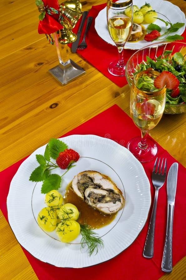 Обед для 2 стоковое изображение rf