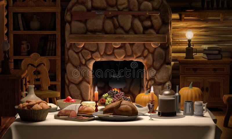 обед кабины thanksgving стоковое фото rf
