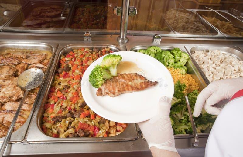 Обед с мясом стоковые изображения rf