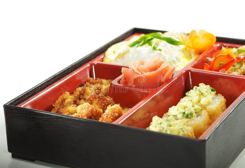 обед японца кухни bento стоковое изображение